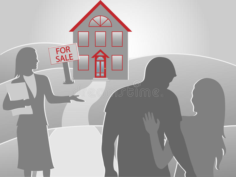 Download Buying house color stock vector. Illustration of estate - 21642220