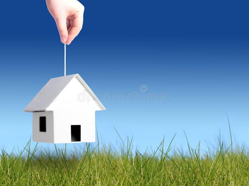 Buying house concept stock photos