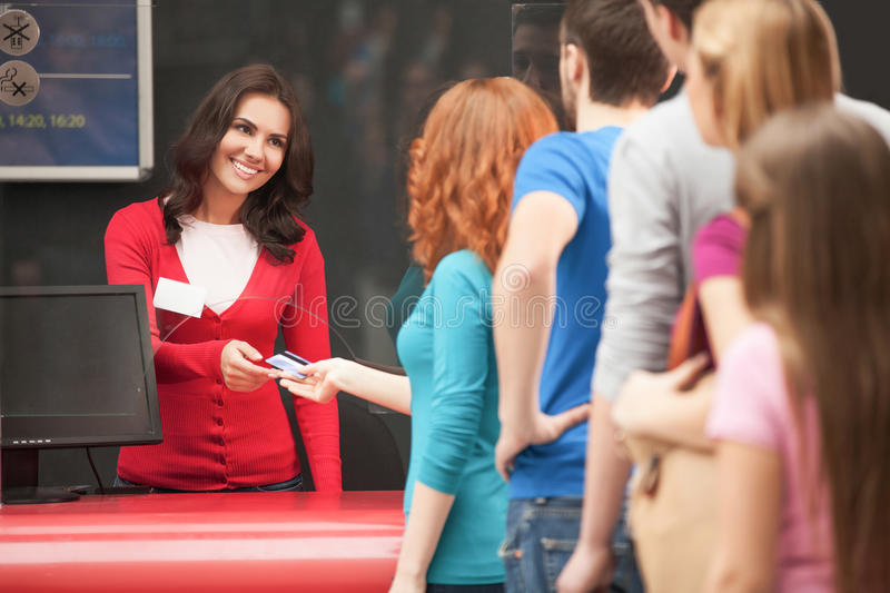 Download Buying the movie tickets. stock photo. Image of expressing - 32590012