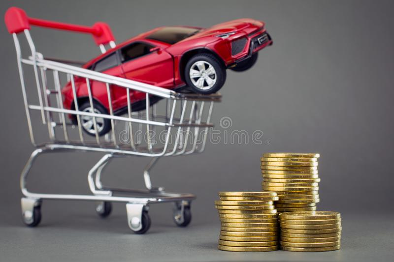 Buying a new car dealership royalty free stock photo
