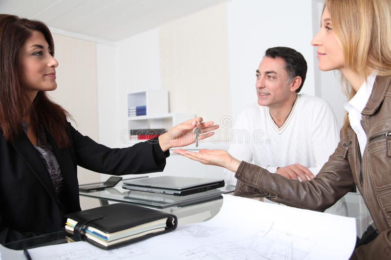 Download Buying new home stock photo. Image of owners, agent, loan - 16992172