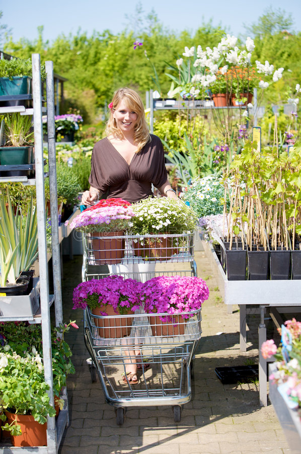 Buying New Plants Stock Photo