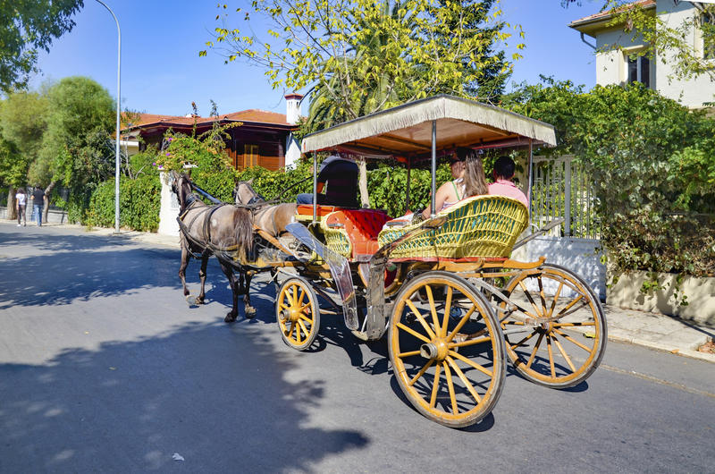 Buyukada Phaeton, Coachman Horse Carriage Ride royalty free stock photography