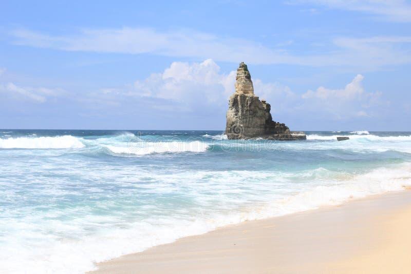Buyutan beach indonesia royalty free stock photo