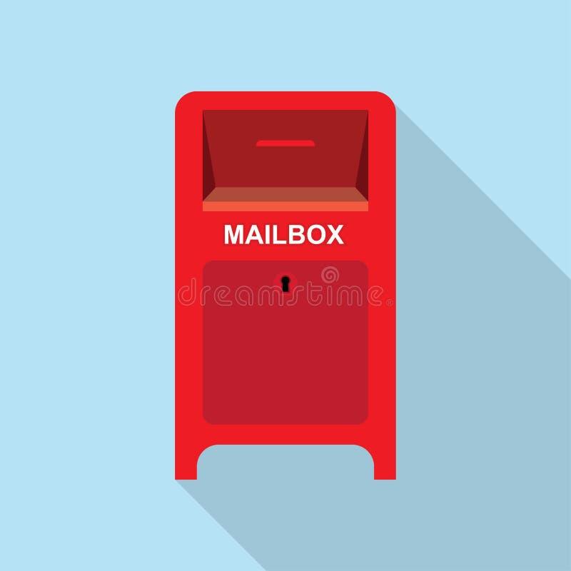 Buzón de correos rojo de la calle ilustración del vector