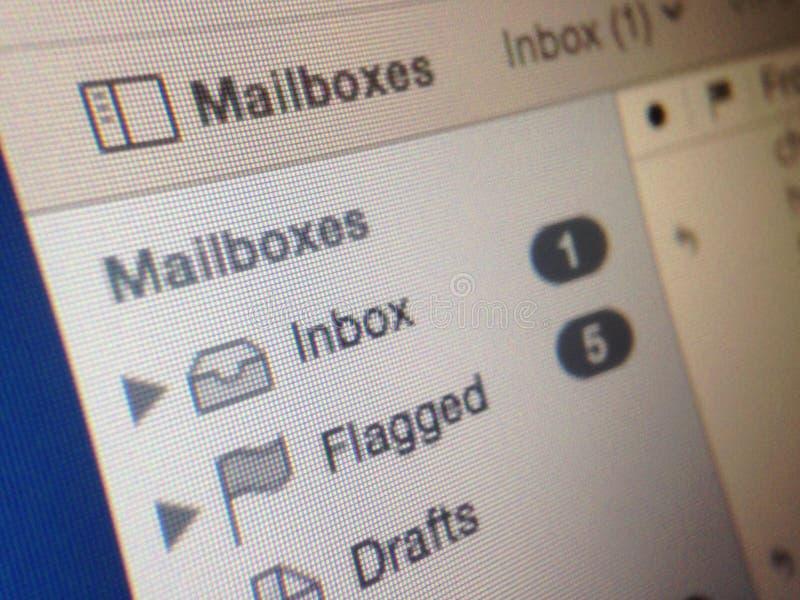Buzón de entrada del correo foto de archivo
