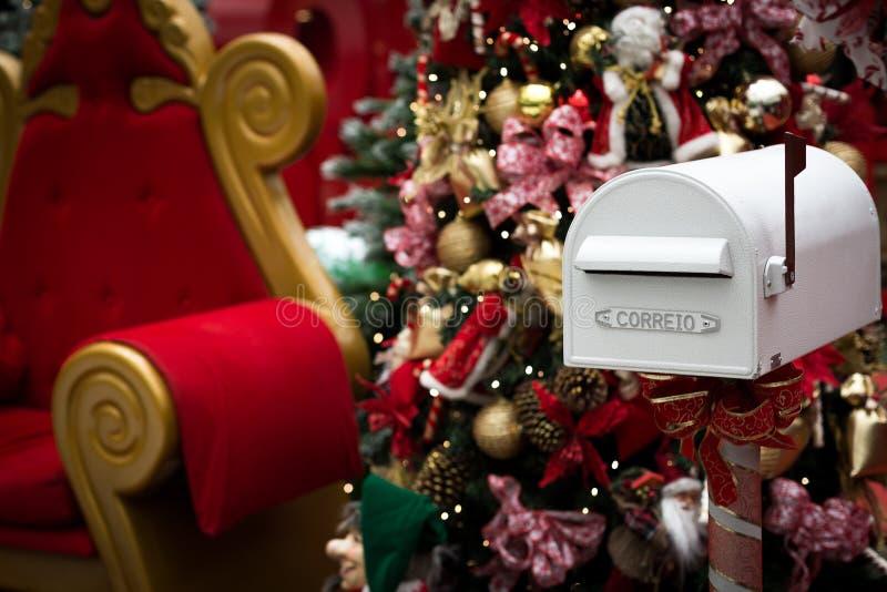 Buzón de Santa Claus imagenes de archivo