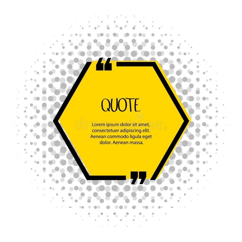 Buzón de texto de comillas cuadradas Comentarios, nota, mensaje y comentario Ilustración del vector ilustración del vector
