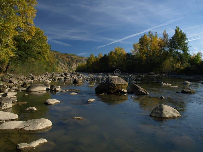Buzau-Fluss stockfotos
