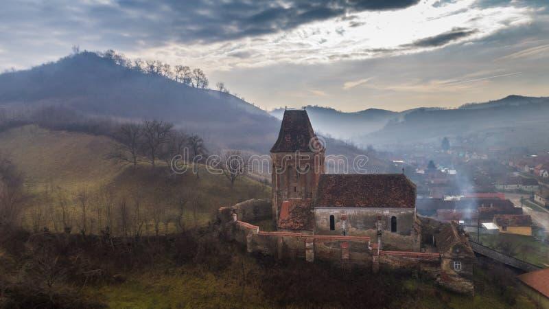 Buzd versterkte kerk royalty-vrije stock afbeeldingen
