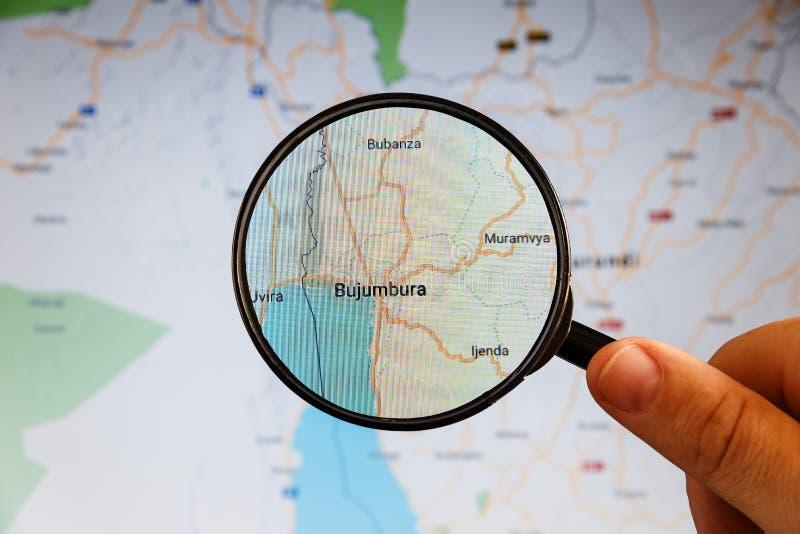 Buzhumbura, Burundi correspondencia pol?tica imágenes de archivo libres de regalías