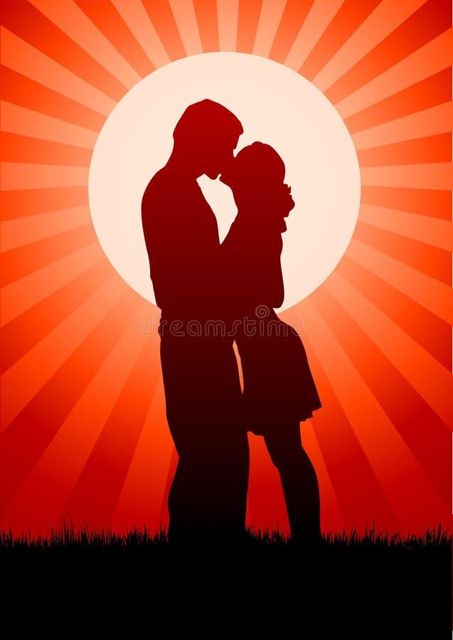 buziak kocha ja zadawala royalty ilustracja