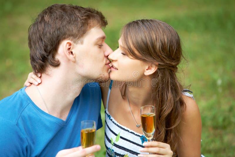 buziak romantyczny fotografia stock