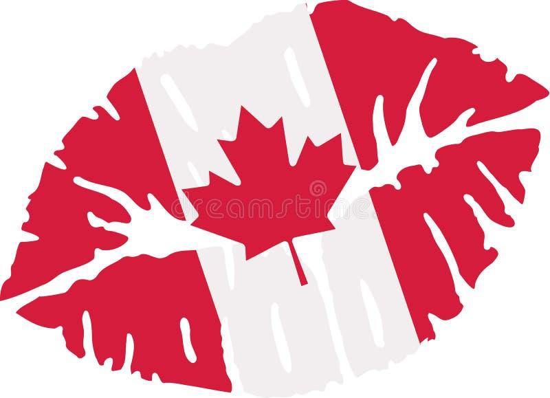 Buziak z kanadyjczyk flaga ilustracji