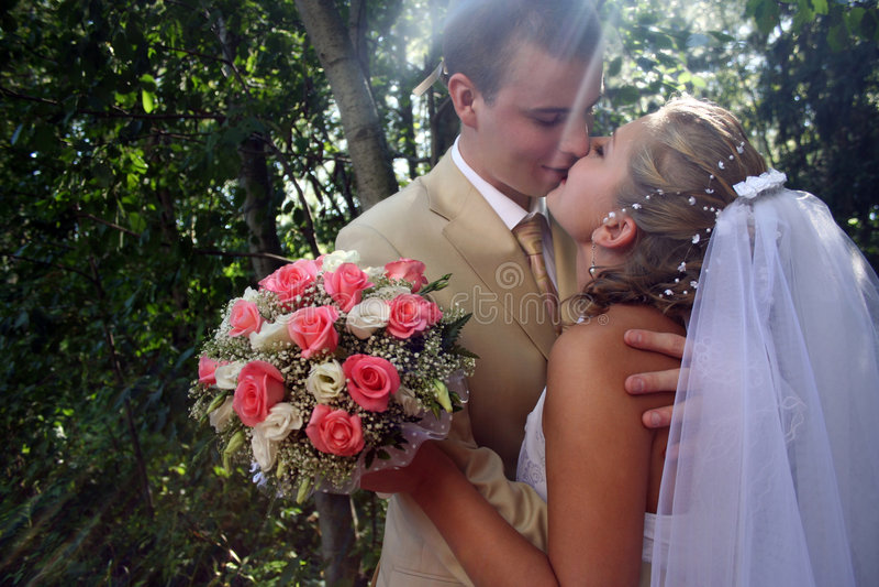 Download Buziaka ślub zdjęcie stock. Obraz złożonej z ładny, mężczyzna - 7653696