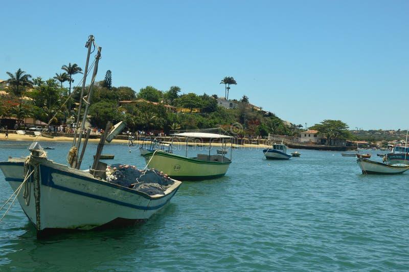Buzios, in Cabo Frio, il Brasile fotografia stock libera da diritti