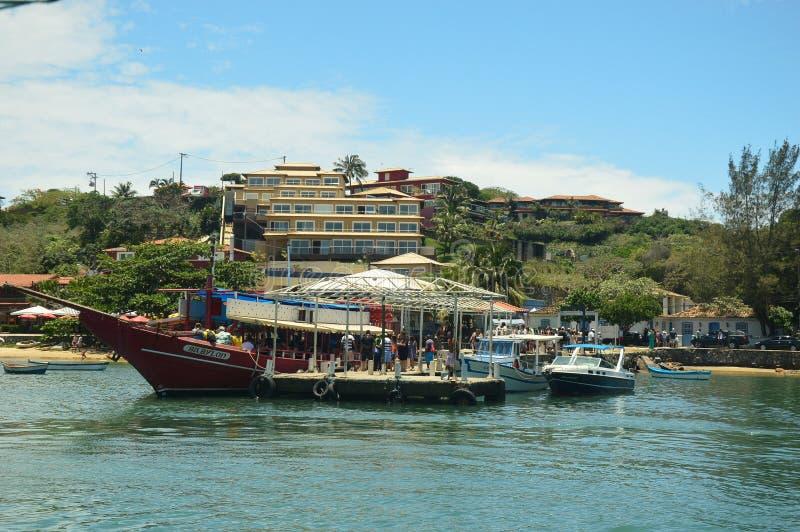 Buzios, in Cabo Frio, il Brasile immagini stock libere da diritti