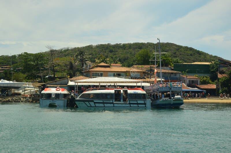 Buzios, in Cabo Frio, il Brasile fotografie stock