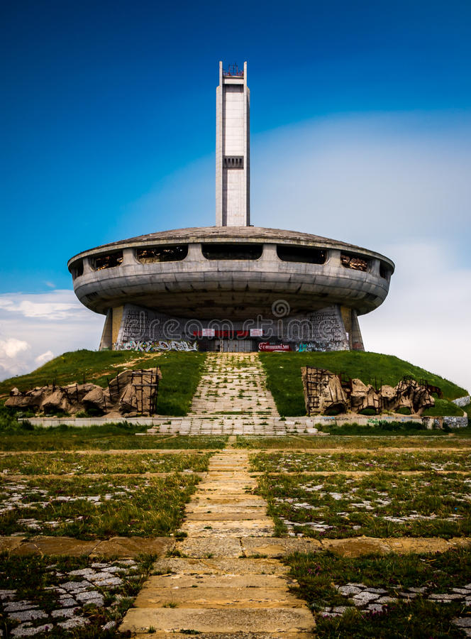 Buzludzha maximum i Bulgarien royaltyfria foton