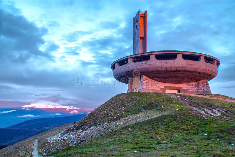 Buzludzha monument royalty free stock images