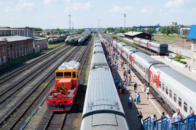 Buzuluk railway station , Russia royalty free stock images