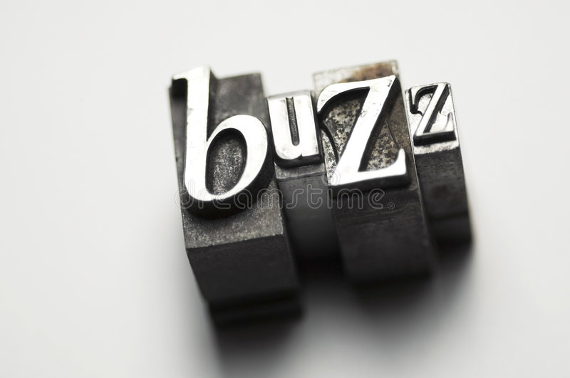 Buzz. The word Buzz photographed using old letterpress type. See my member portfolio for more vintage letterpress images