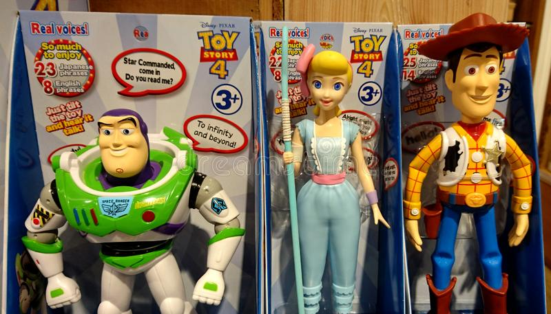 Buzz, Jessie and Woody in Toy Story royalty free stock photo