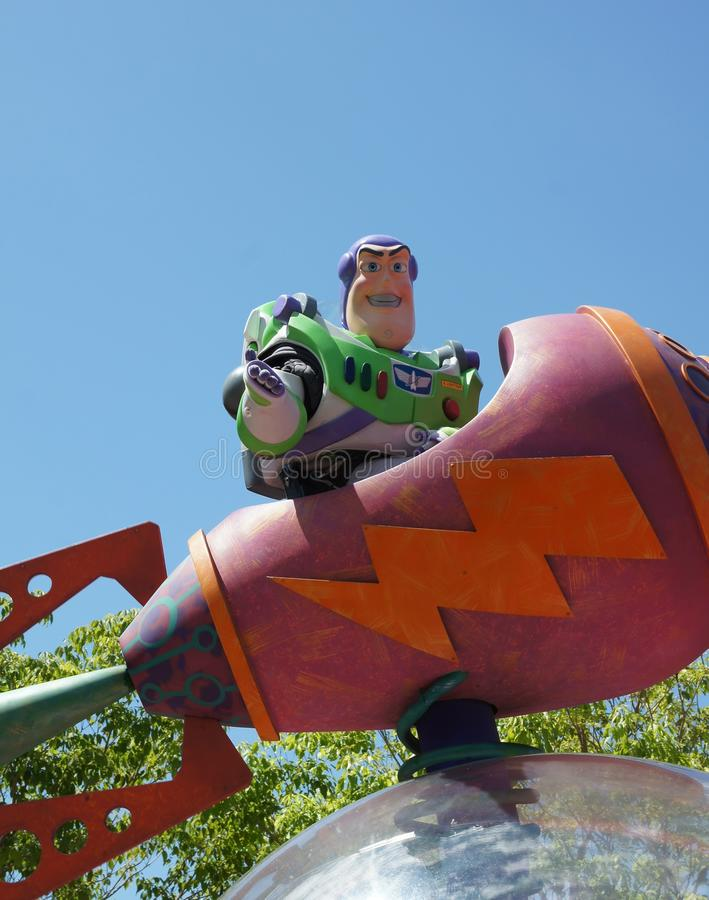 Buzz Lightyear in Parade royalty free stock images
