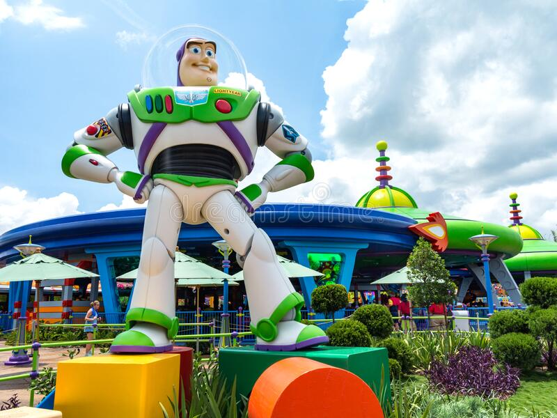 Buzz Lightyear in Toy Story Land, Hollywood Studios stock photography