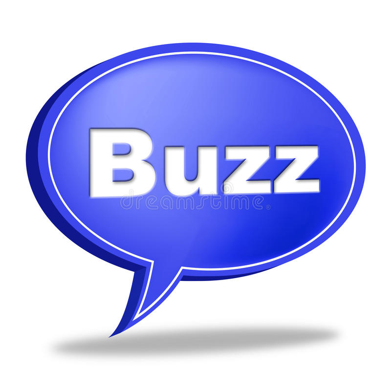 Buzz Message Represents Public Relations And Attention. Buzz Message Meaning Public Relations And Exposure vector illustration