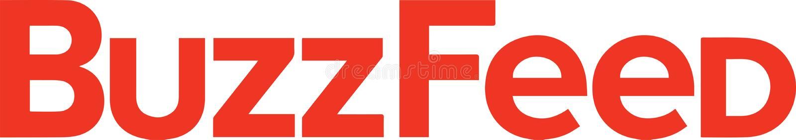 BuzzFeed logo news. BuzzFeed, Inc. is an American Internet media, news and entertainment company with a focus on digital media based in New York City. BuzzFeed stock illustration