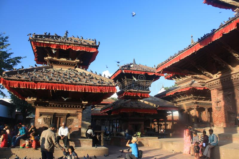 Buzzing vibes in Durbar Square stock photos