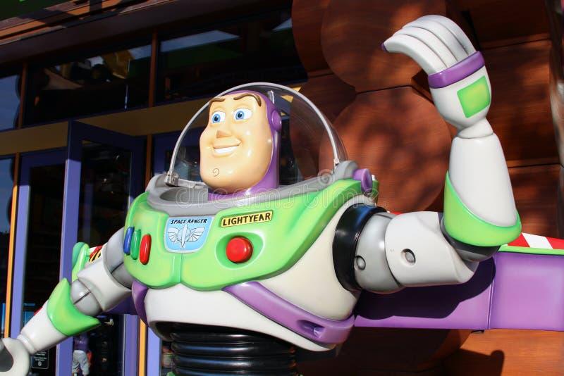 buzzljusår pixar s royaltyfri bild