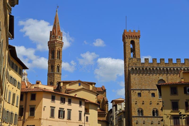 BView do quadrado de Signoria em Florence Piazza della Signoria imagens de stock