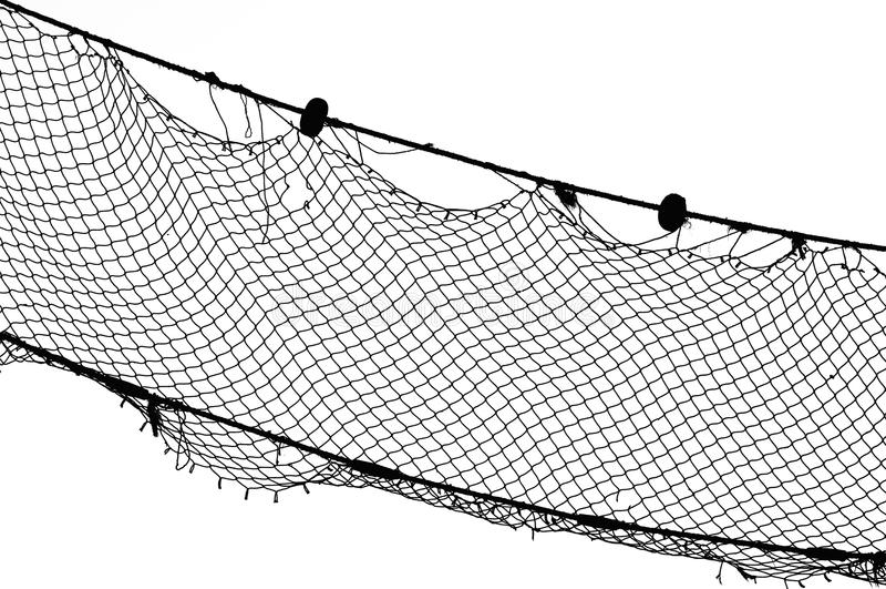 bw捕鱼网 库存图片