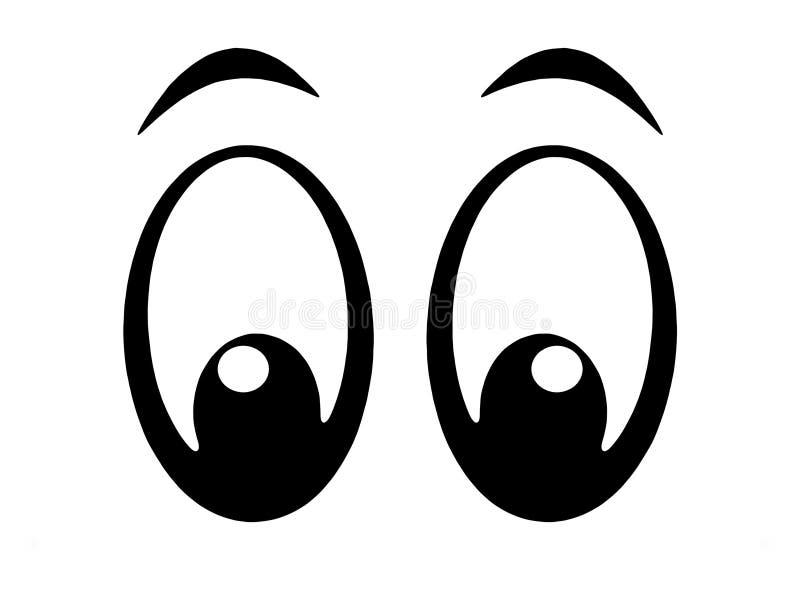 bw-ögon royaltyfri illustrationer