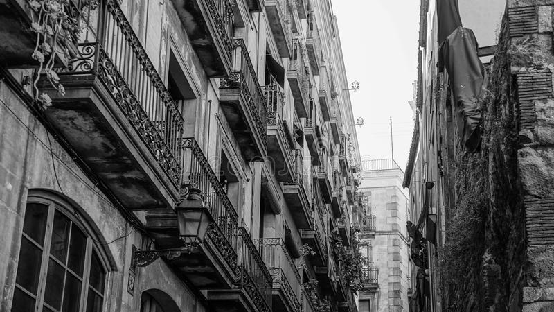 BW Barcelone Espagne photos stock