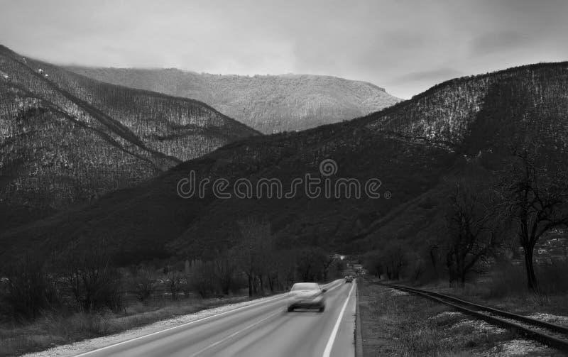 Bw-bil fotografering för bildbyråer