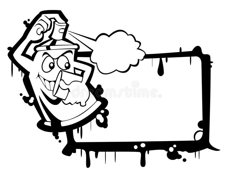 bw can spray vektor illustrationer