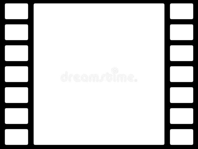 Bw da película ilustração stock