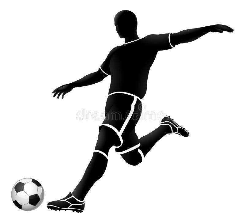 Bw 2018 A3-02 da silhueta do futebol [convertido] ilustração royalty free