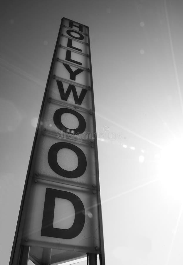 BW do marco 2 da torre de Hollywood imagens de stock