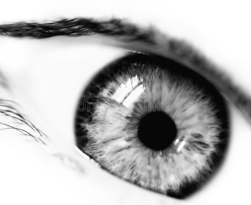 Bw-emotionales Auge stockfotos