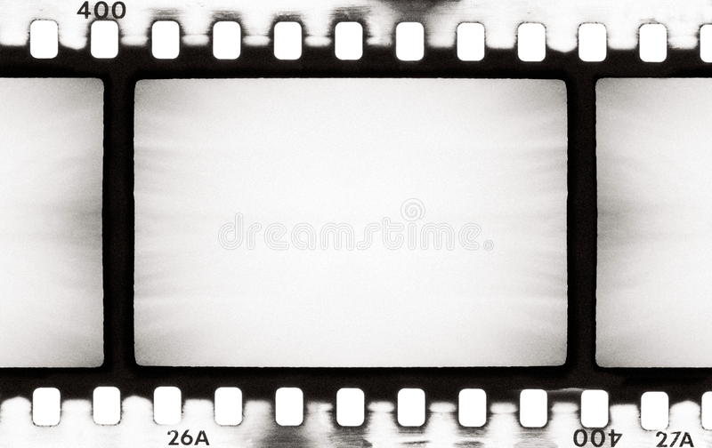 BW film strip. Empty film strip, may use as a background stock illustration