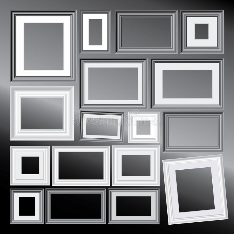 Bw Frames Stock Photo