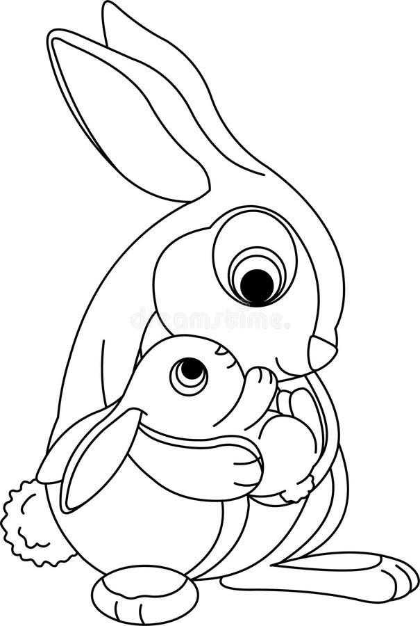 bw kapiszonu królik ilustracja wektor