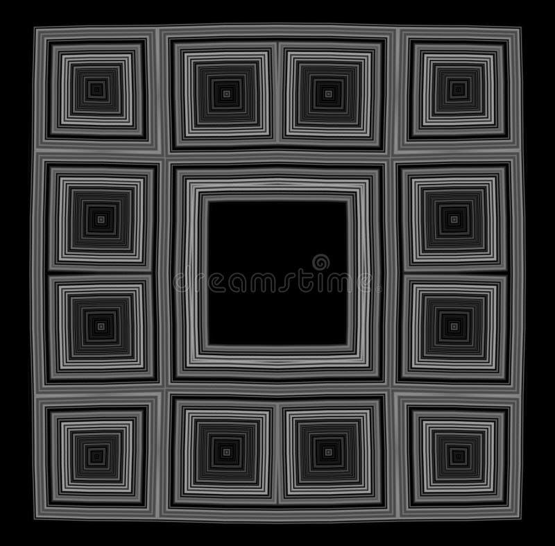 Bw negro del marco ilustración del vector