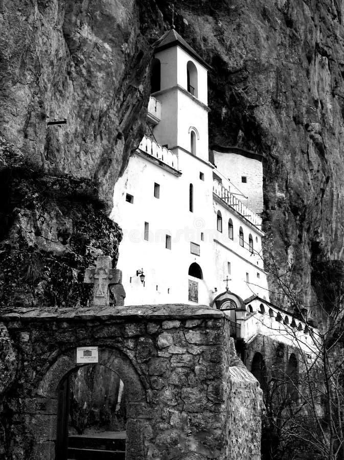 BW Ostrog Monastery Stock Image