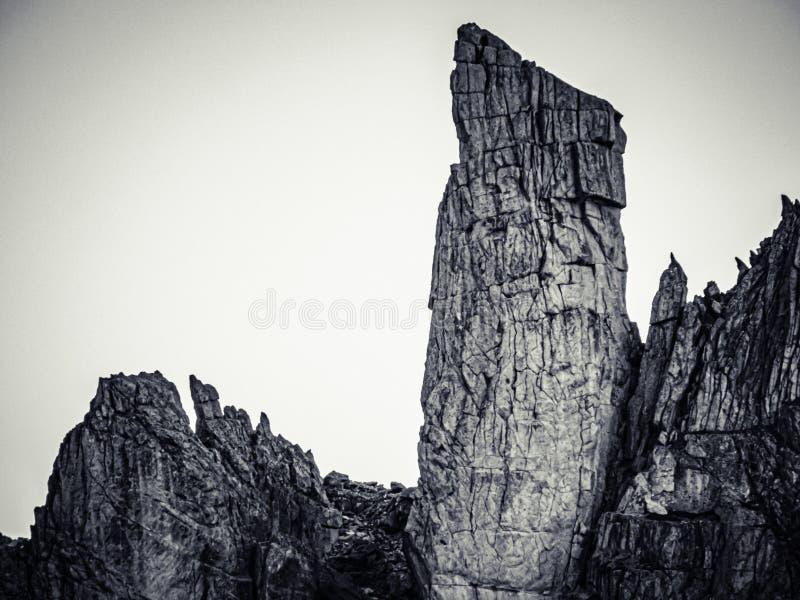BW Rock op Furka Pass royalty-vrije stock foto