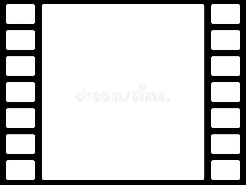 Bw van de film stock illustratie